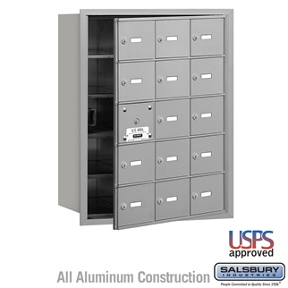 4B+ Horizontal Mailbox - 15 A Doors (14 Usable) - Front or Rear Loading - USPS Access