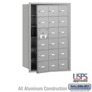4B+ Horizontal Mailbox - 18 A Doors (17 Usable) - Front or Rear Loading - USPS Access