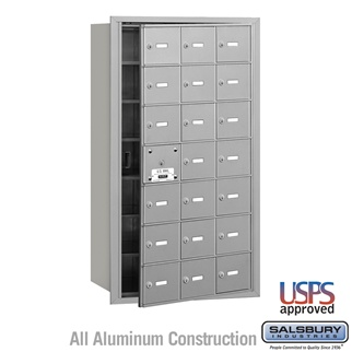 4B+ Horizontal Mailbox - 21 A Doors (20 Usable) - Front or Rear Loading - USPS Access