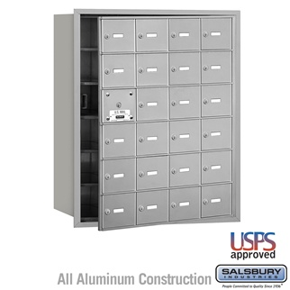 4B+ Horizontal Mailbox - 24 A Doors (23 Usable) - Front or Rear Loading - USPS Access