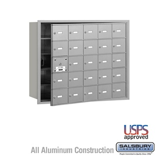 4B+ Horizontal Mailbox - 25 A Doors (24 Usable) - Front or Rear Loading - USPS Access