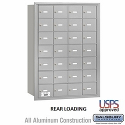 4B+ Horizontal Mailbox - 28 A Doors (27 Usable) - Front or Rear Loading - USPS Access