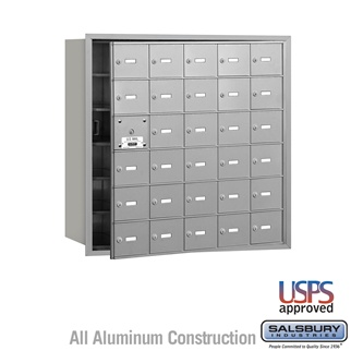 4B+ Horizontal Mailbox - 30 A Doors (29 Usable) - Front or Rear Loading - USPS Access