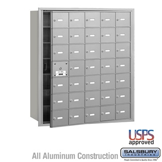 4B+ Horizontal Mailbox - 35 A Doors (34 Usable) - Front or Rear Loading - USPS Access