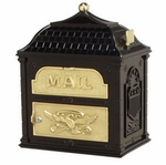 Gaines Classic Top Piece Locking Wall Mount Mailbox