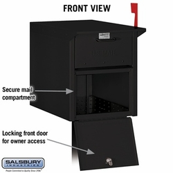 Mail Chest - Front and Rear Access - Black