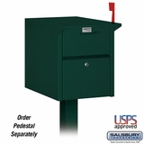 Mail Chest - Front and Rear Access - Green