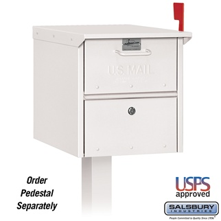 Mail Chest - Front and Rear Access - White