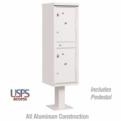 Outdoor Parcel Locker (Includes Pedestal) - USPS Access - White