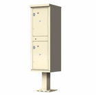 Outdoor Parcel Locker with Pedestal - 2 Parcels