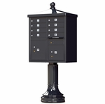 12 Door Cluster Box Unit - Traditional Style - Black