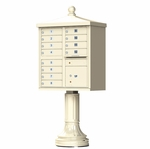 12 Door Cluster Box Unit - Traditional Style - Sandstone