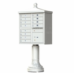 12 Door Cluster Box Unit - Traditional Style - Gray