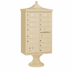 13 Door Regency Cluster Box Unit - Sandstone