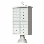 13 Door Cluster Box Unit - Traditional Style - Gray