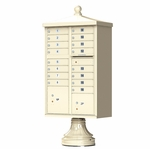 16 Door Cluster Box Unit - Traditional Style - Sandstone