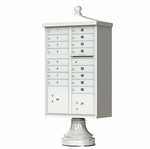 16 Door Cluster Box Unit - Traditional Style - Gray