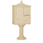 8 Door Regency Cluster Box Unit - Sandstone