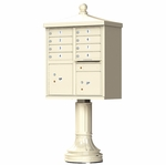 8 Door Cluster Box Unit - Traditional Style - Sandstone