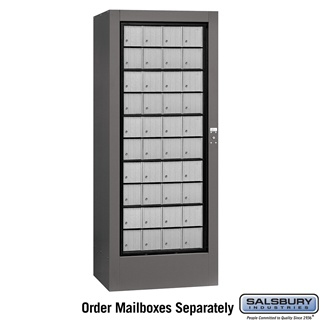 Rotary Mail Center - Aluminum Style - USPS Access