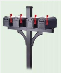 <u>Rural Quad Deluxe Mailbox Packages</u>