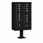 Salsbury Cluster Box Unit (Includes Pedestal) - 16 A Size Doors - Type III - USPS Access - Black