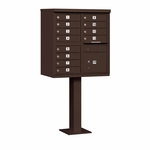 Salsbury Cluster Box Unit (Includes Pedestal) - 12 A Size Doors - Type II - USPS Access - Bronze