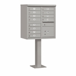Salsbury Cluster Box Unit (Includes Pedestal) - 12 A Size Doors - Type II - USPS Access - Gray