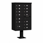 Salsbury Cluster Box Unit (Includes Pedestal) - 13 B Size Doors - Type IV - USPS Access - Black