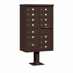 Salsbury Cluster Box Unit (Includes Pedestal) - 13 B Size Doors - Type IV - USPS Access - Bronze