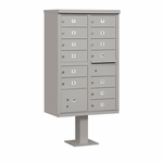 Salsbury Cluster Box Unit (Includes Pedestal) - 13 B Size Doors - Type IV - USPS Access - Gray