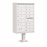 Salsbury Cluster Box Unit (Includes Pedestal) - 13 B Size Doors - Type IV - USPS Access - White