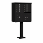 Salsbury Cluster Box Unit (Includes Pedestal) - 8 A Size Doors - Type I - USPS Access - Black