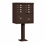 Salsbury Cluster Box Unit (Includes Pedestal) - 8 A Size Doors - Type I - USPS Access -  Bronze