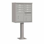 Salsbury Cluster Box Unit (Includes Pedestal) - 8 A Size Doors - Type I - USPS Access - Gray