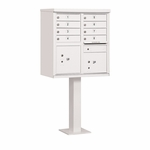 Salsbury Cluster Box Unit (Includes Pedestal) - 8 A Size Doors - Type I - USPS Access - White