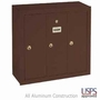 Vertical Mailbox - 3 Doors - USPS Access - Bronze