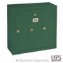 Vertical Mailbox - 3 Doors - USPS Access - Green