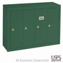 Vertical Mailbox - 4 Doors - USPS Access - Green