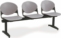 2000 Series Beam Seating with 3 Polypropylene Seats [3-SEAT-BEAM-IFK]