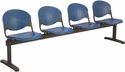 2000 Series Beam Seating with 4 Polypropylene Seats [4-SEAT-BEAM-IFK]