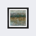 Abstract Rain by Danhui Nai Artwork on Fine Art Paper with Black Matte Hardwood Frame - 16''W x 16''H x 1''D [WAC4169-1PFA-16X16-FM01-ICAN]