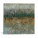 Abstract Rain by Danhui Nai Gallery Wrapped Canvas Artwork - 18''W x 18''H x 0.75''D [WAC4169-1PC3-18X18-ICAN]