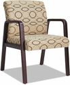 Alera® Reception Lounge Series Upholstered Guest Chair with Mahogany Wood Frame and Arms - Tan Fabric [ALERL4351M-FS-NAT]