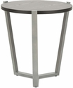 Alera® Round Occasional Corner Table with Silver Metal Frame and Laminate Top - 21.25'' Dia x 22.88''H - Black [ALECT7721B-FS-NAT]