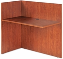 Alera® Valencia Reversible Reception Return - 44w x 23 5/8d x 41 1/2h - Medium Cherry [ALEVA324424MC-FS-NAT]