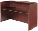 Alera® Valencia Series Reception Desk w/Counter - 71w x 35 1/2d x 42 1/2h - Mahogany [ALEVA327236MY-FS-NAT]