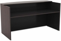 Alera® Valencia Series Reception Desk with Counter - 71''W x 35.5''D x 42.5''H - Espresso [ALEVA327236ES-FS-NAT]