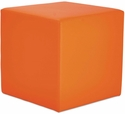Alera® WE Series Collaboration Seating Cube Bench - 18''W x 18''D x 18''H - Mandarin [ALEWE35MN-FS-NAT]