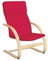 Bentwood Ergonomically Shaped Adult Comfort Chair with 2'' Thick Removable Cushions [ELR-15501-ECR]